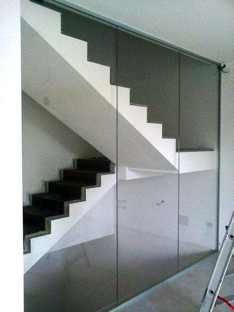 pareti vano scala ritinteggiatura e decorazione interno